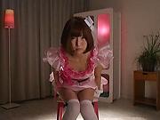Sakura Kizuna ,featured in a cosplay scene