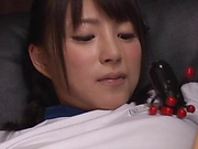 Hakii Haruka ,devoured by  kinky toy insertion