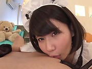 Stunning AV girl Kurii Mii enjoys cosplay sex and gets creamed