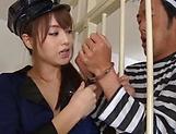 Asian hottie Akiho Yoshizawa in raunchy blowjob scene picture 12
