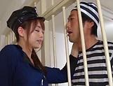 Asian hottie Akiho Yoshizawa in raunchy blowjob scene