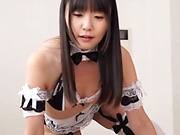 Cute love Tsubomi enjoys passionately sucking a hard cock