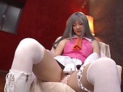 Japanese babe likes sex toys a lot