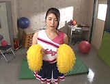 Hot Asian schoolgirl Ema Yuna enjoys stroking cock