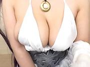 Shibuya Kaho giving a proper head in her costume