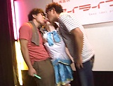 Naughty Ai Uehara gets a messy facial picture 12