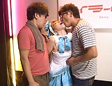 Naughty Ai Uehara gets a messy facial picture 13