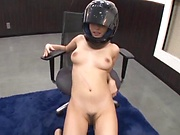 Young naughty Japanese amateur Ayami Shunka doing handjob