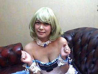 Cute blonde girl likes all her sex toys