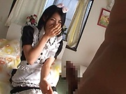 Naughty schoolgirl is fucking for money