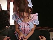 Sakura Kizuna  ,takes has her shaved pussy nailed