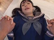 Nanase Mai got creamed pussy after sex