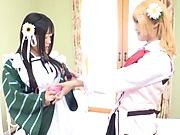 Hot Japanese girls are having group sex