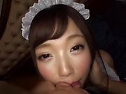 Naughty Aise Miki is a super sexy maid
