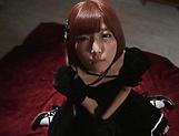 Sakura Kizuna ,gets kinky on a huge dildo picture 11