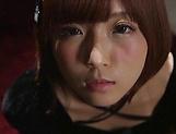 Sakura Kizuna ,gets kinky on a huge dildo picture 13