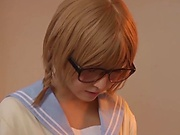Crazy Tokyo schoolgirl Sakura Kizuna fucks hard in the classroom
