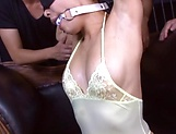 Sizzling hot gang bang session with An Takase picture 13