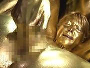 Uehara Ai gets a worthy cum on body