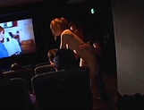 Naked babe is riding dick in the cinema picture 12