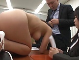 Office lady is having group sex at work picture 15