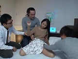 Hot Airi Rui in a wild gang bang hardcore drilling action picture 15