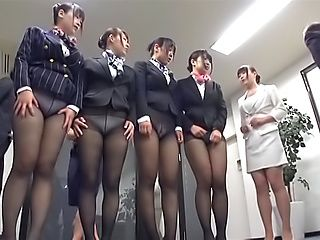 Cute secretary babes enjoy hot wild fucking