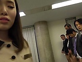 Office babe sucks and fucks all her colleagues picture 11