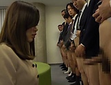 Office babe sucks and fucks all her colleagues picture 12