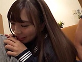 Naughty schoolgirl Sasami Aya is sucking