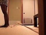 Petite Japanese girls Katase Hitomi and Fukiishi Rena fuck in foursome picture 15