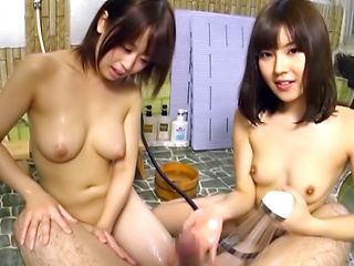 Two Asian bimbos fucked hard in serious POV action