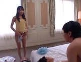 Cute Asian babes getting fucked by a hunky lad