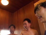 Haruna Hana, enjoys a steamy soaping in the shower