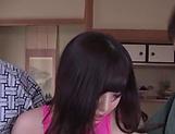 Hot Japanese brunette got gang banged picture 13