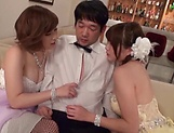 Sweetie excites in a lovely threesome event picture 15