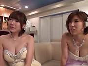 Sweetie excites in a lovely threesome event
