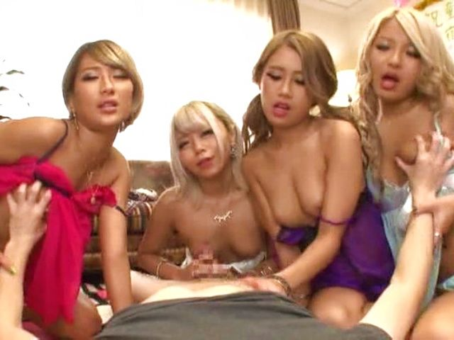 Blonde Japanese girls are super horny