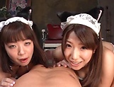 Hot Japanese maids get a hardcore drill from a hard cock