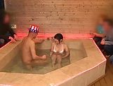 Hot Kitano Nozomi got fucked in the bath picture 4
