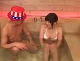 Hot Kitano Nozomi got fucked in the bath