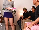 Wild Japanese milf Inoue Ayako fucked by three guys gets toyed picture 12