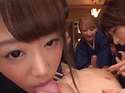 Japanese group sex in insane XXX scenes on cam