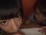 Hot Japanese teen enjoys dick along her colleagues  picture 13
