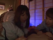 Tokyo teen sucks dick then fucks with passion
