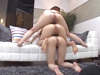 Girls on fire sharing cock in smashing Japan XXX