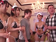 Japanese maids are hired to get fucked
