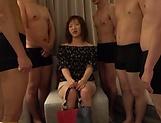 Horny Asian girl Saya gets gangbanged nastily picture 15