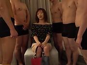 Horny Asian girl Saya gets gangbanged nastily