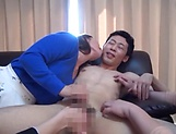 Three light-minded Japanese milfs get fucked by one guy picture 15